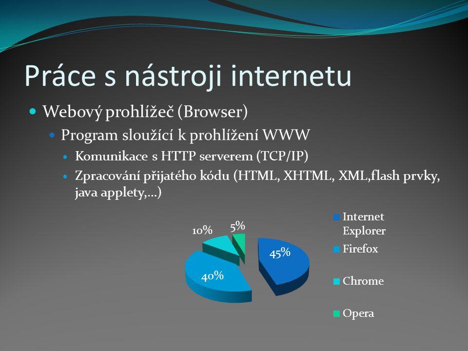 Práce s nástroji internetu
