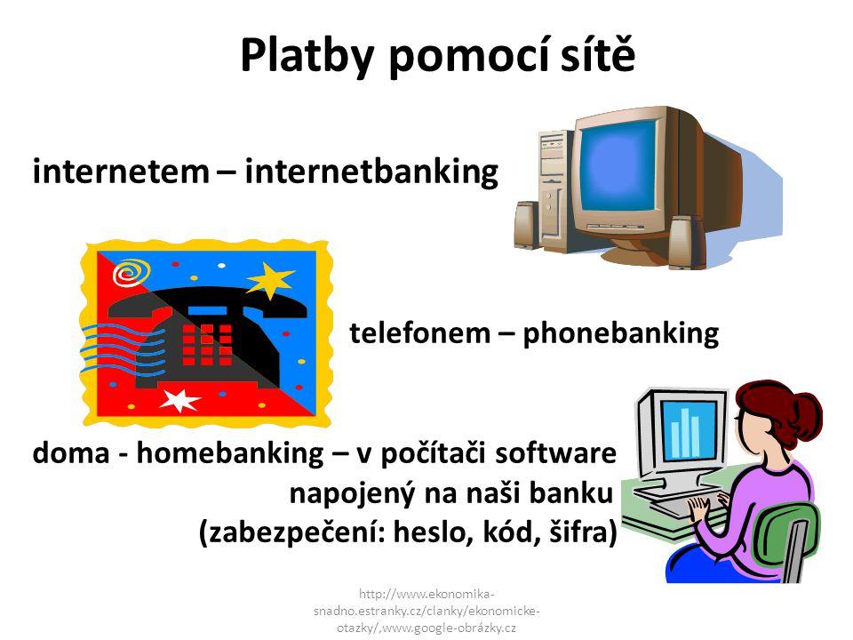 Platby pomocí sítě internetem – internetbanking