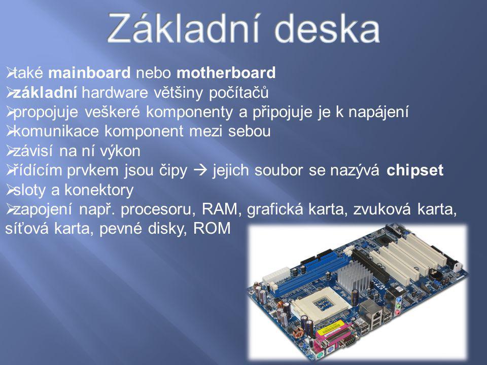 Základní deska také mainboard nebo motherboard