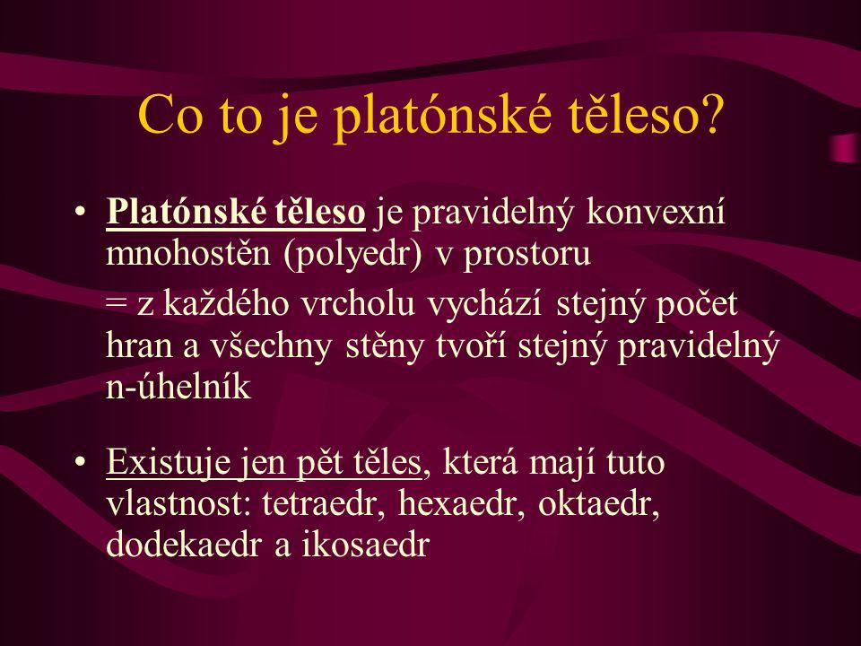 Co to je platónské těleso