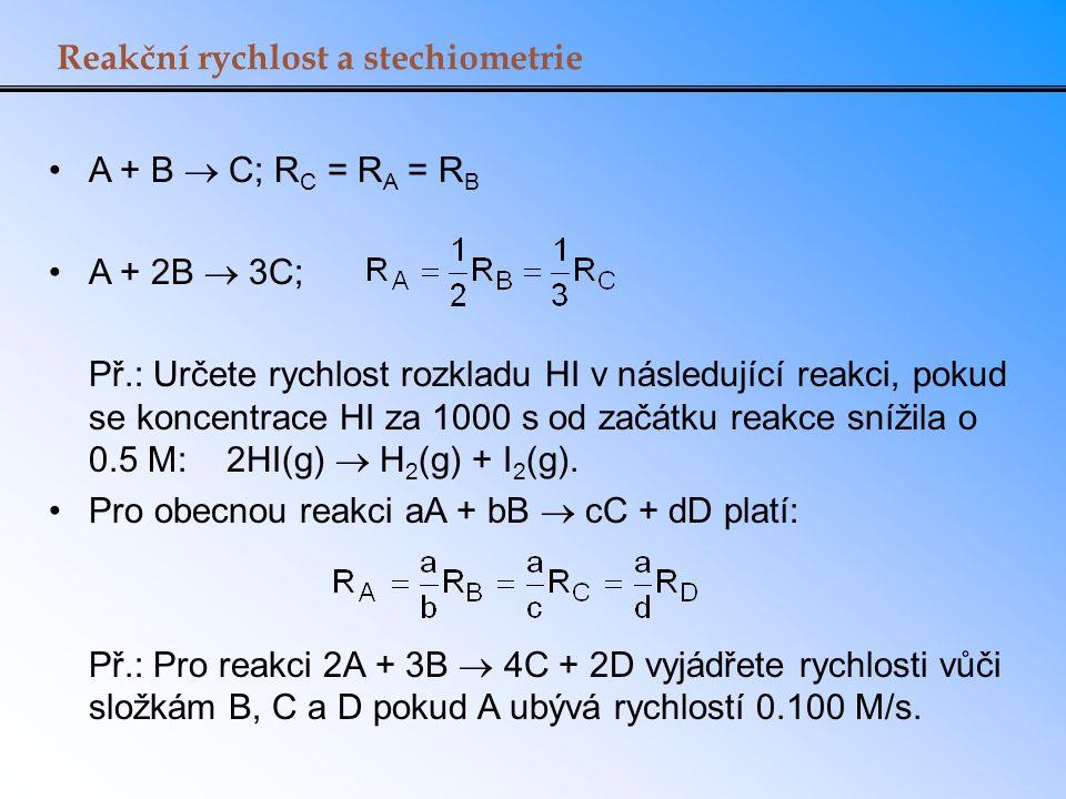 Reakční rychlost a stechiometrie