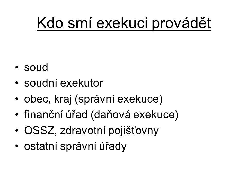 Kdo smí exekuci provádět