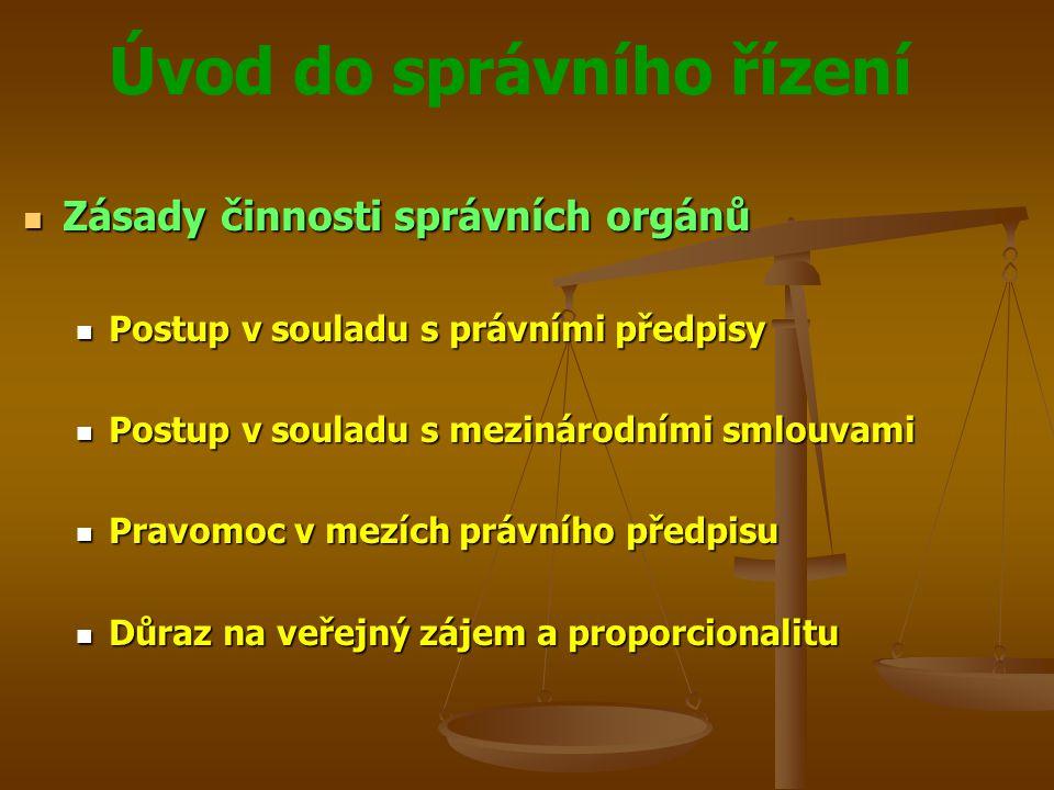 Zásady činnosti správních orgánů