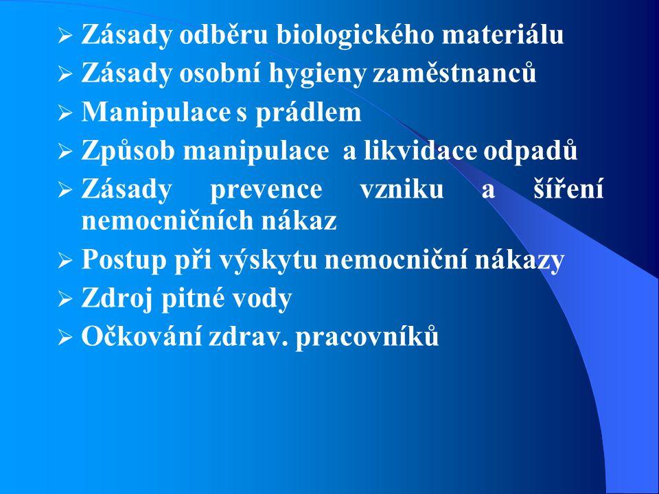 Zásady odběru biologického materiálu