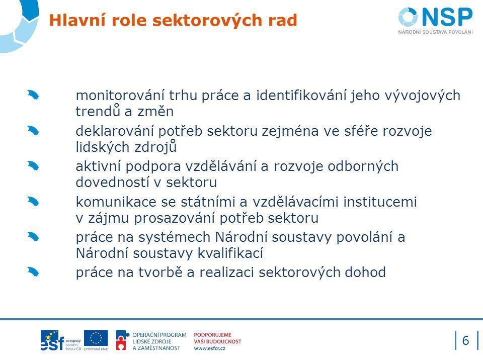 Hlavní role sektorových rad
