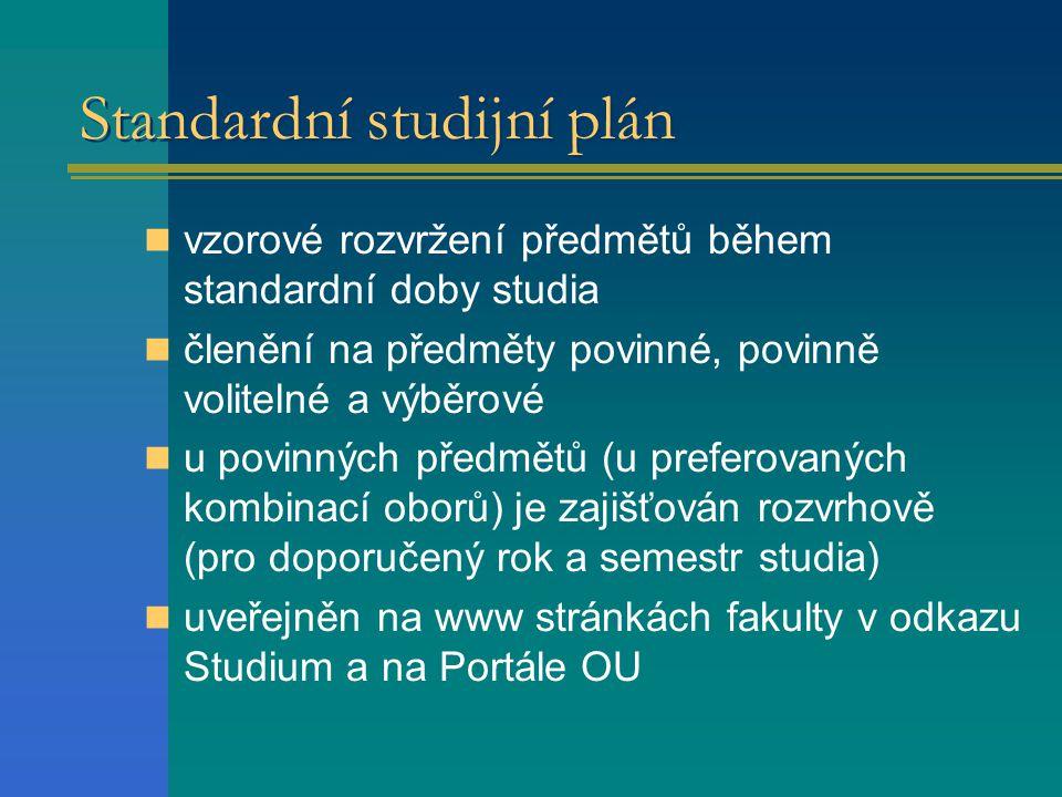 Standardní studijní plán