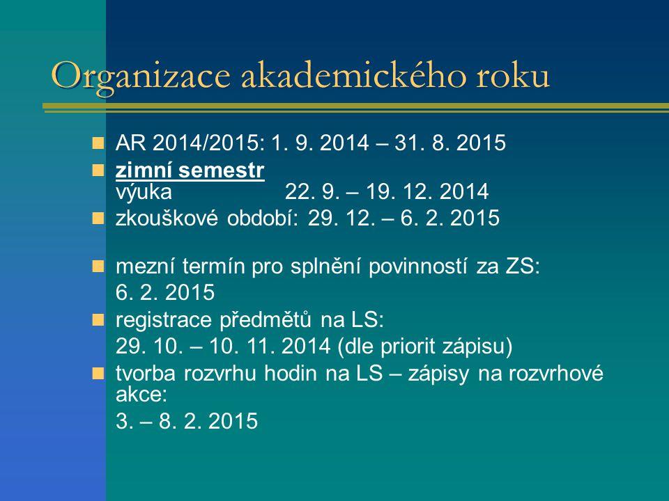 Organizace akademického roku