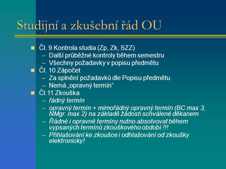 Studijní a zkušební řád OU