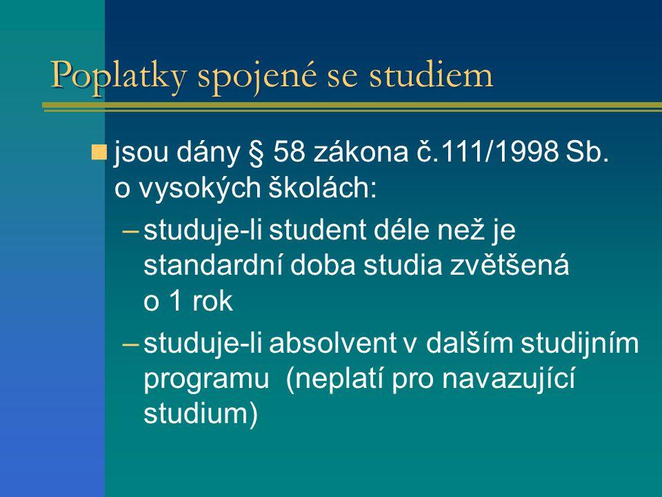 Poplatky spojené se studiem