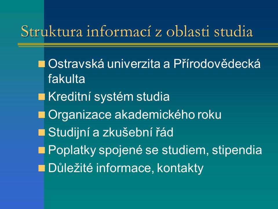 Struktura informací z oblasti studia