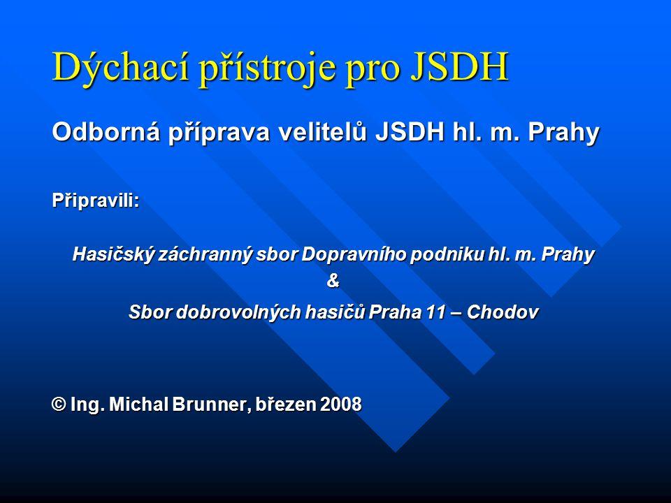 Dýchací přístroje pro JSDH