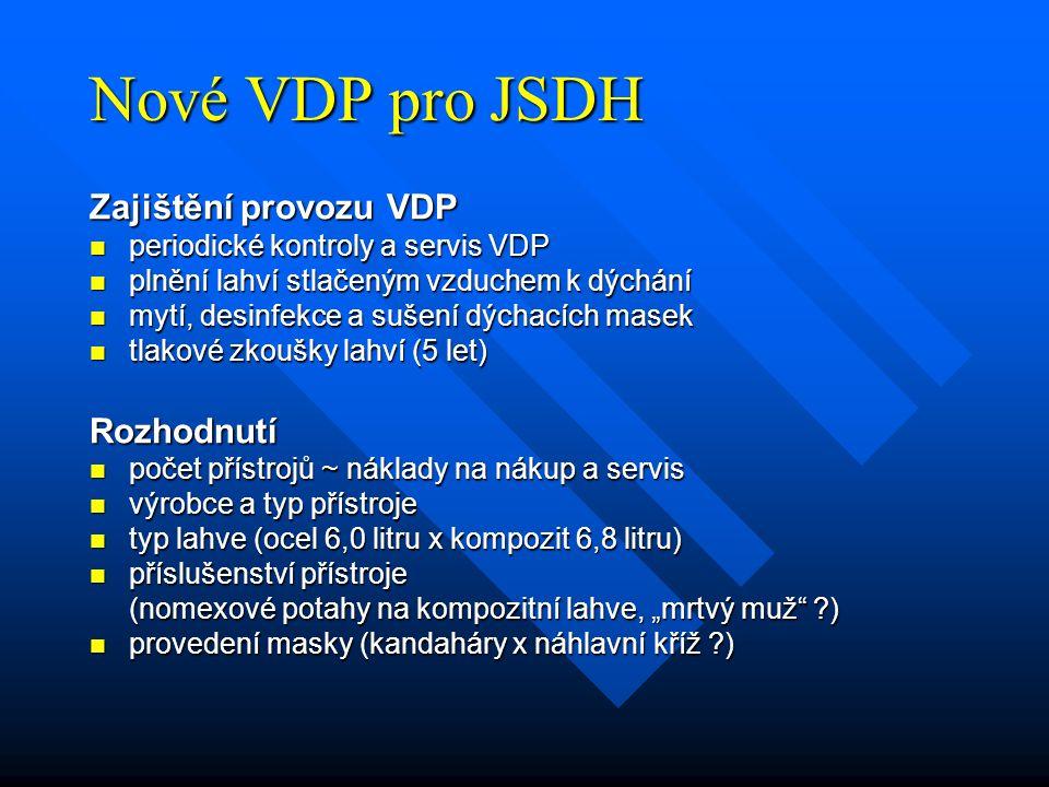 Nové VDP pro JSDH Zajištění provozu VDP Rozhodnutí