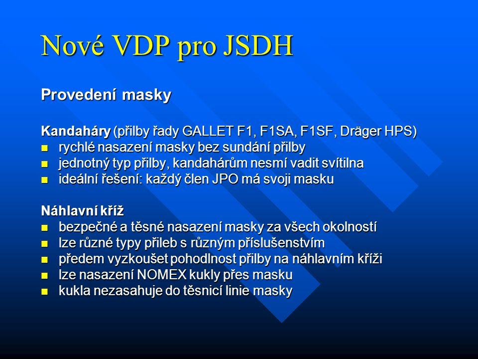 Nové VDP pro JSDH Provedení masky