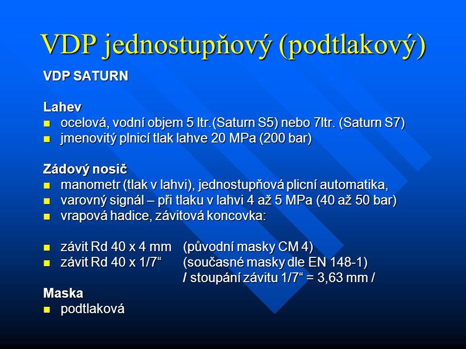 VDP jednostupňový (podtlakový)