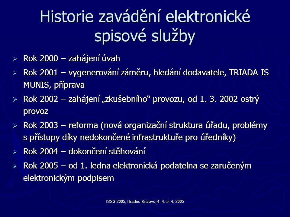 Historie zavádění elektronické spisové služby