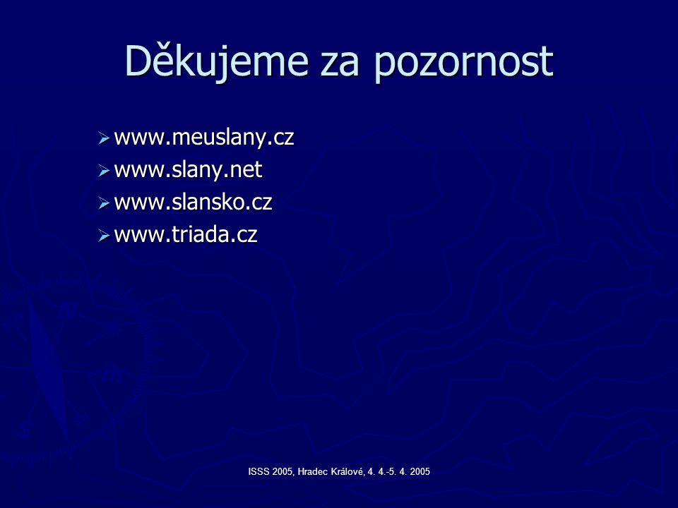Děkujeme za pozornost www.meuslany.cz www.slany.net www.slansko.cz