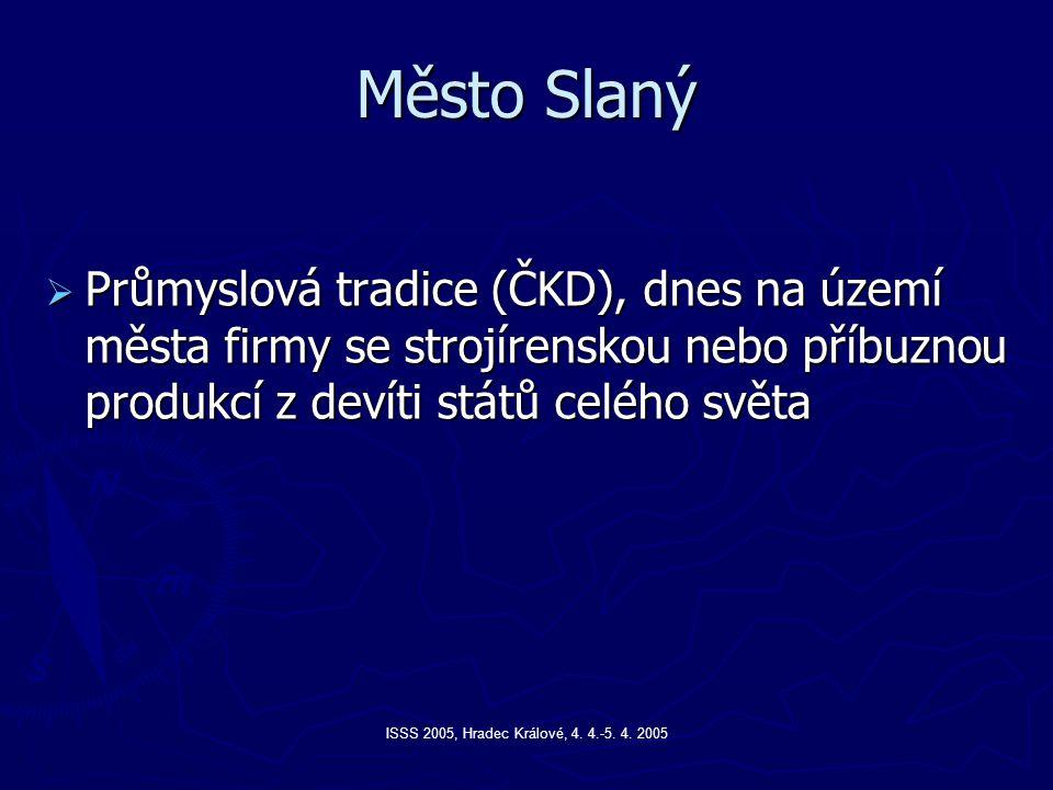 Město Slaný Průmyslová tradice (ČKD), dnes na území města firmy se strojírenskou nebo příbuznou produkcí z devíti států celého světa.