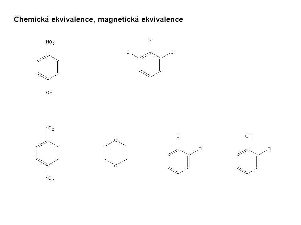 Chemická ekvivalence, magnetická ekvivalence