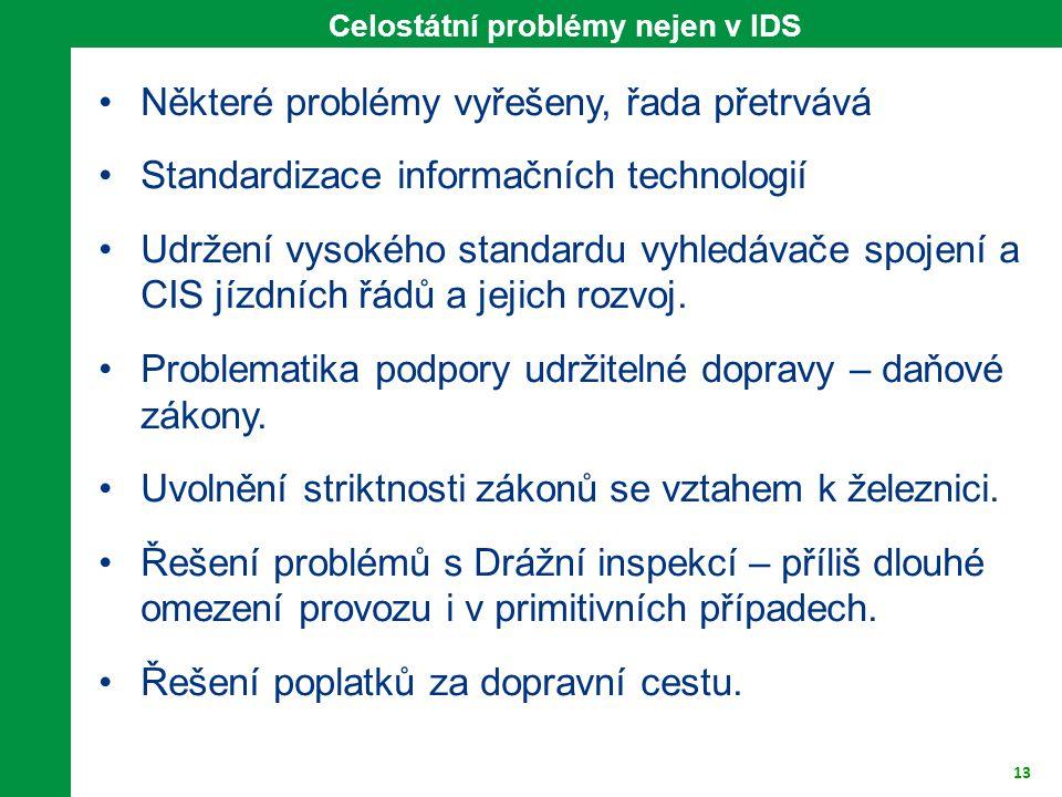 Celostátní problémy nejen v IDS