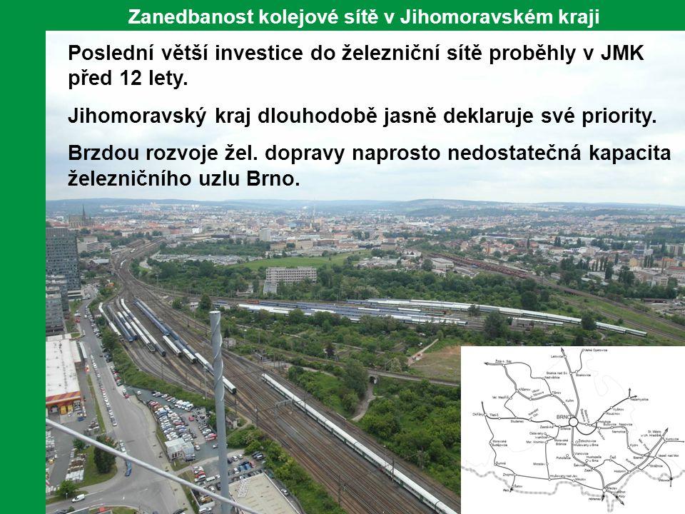 Zanedbanost kolejové sítě v Jihomoravském kraji