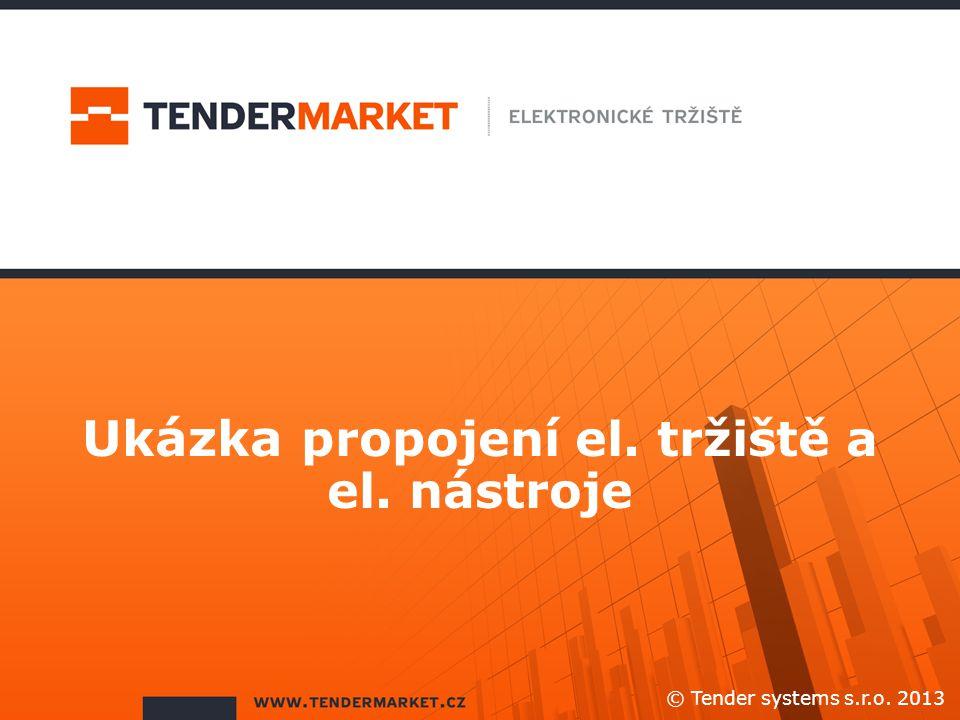 Ukázka propojení el. tržiště a el. nástroje