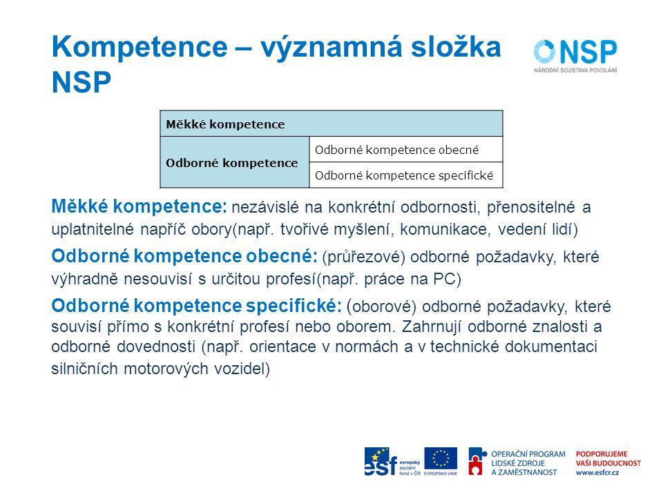 Kompetence – významná složka NSP