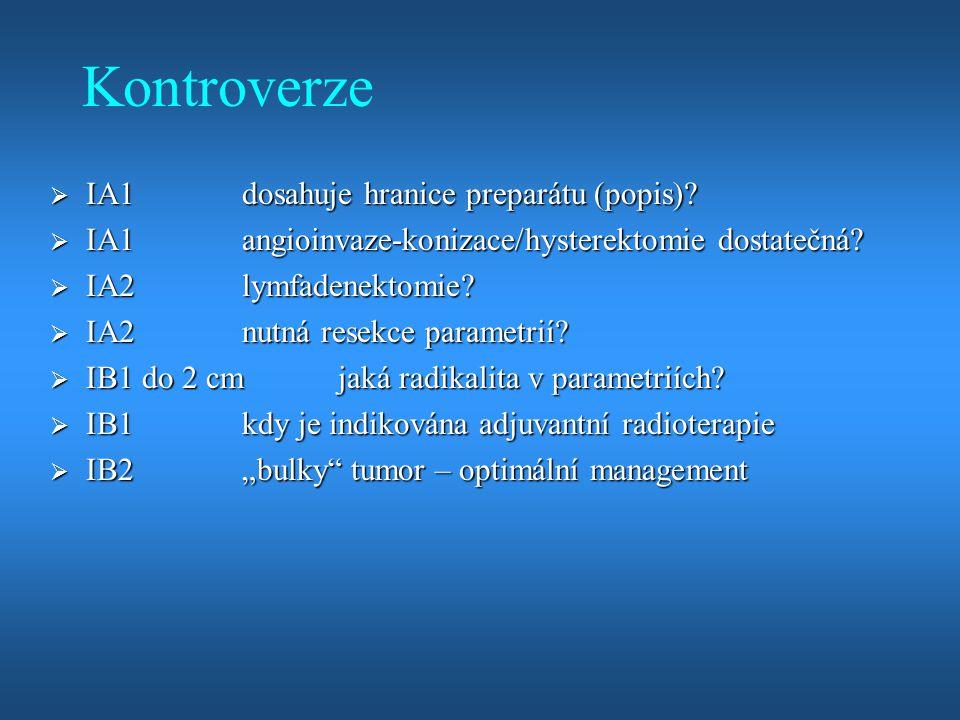 Kontroverze IA1 dosahuje hranice preparátu (popis)