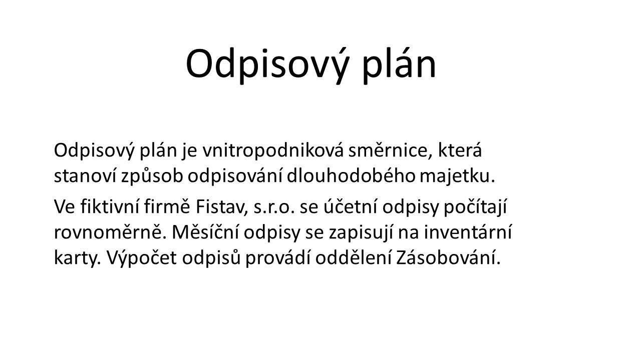 Odpisový plán