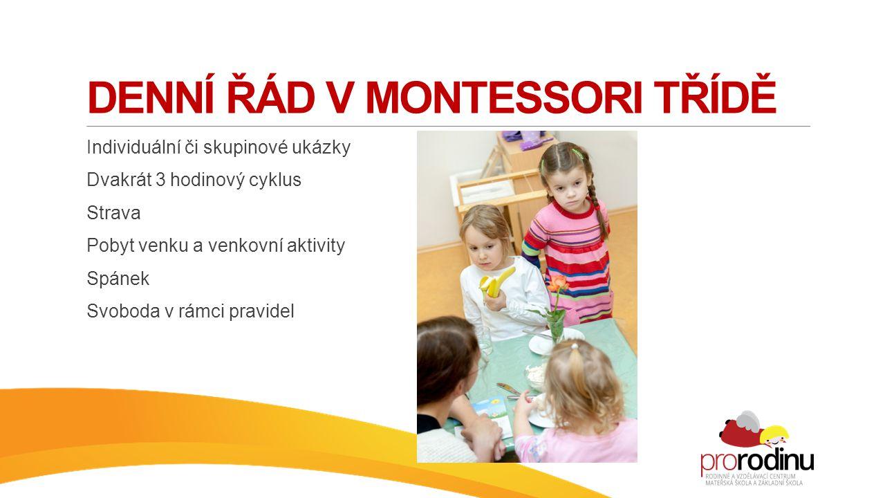 Denní řád v montessori třídě