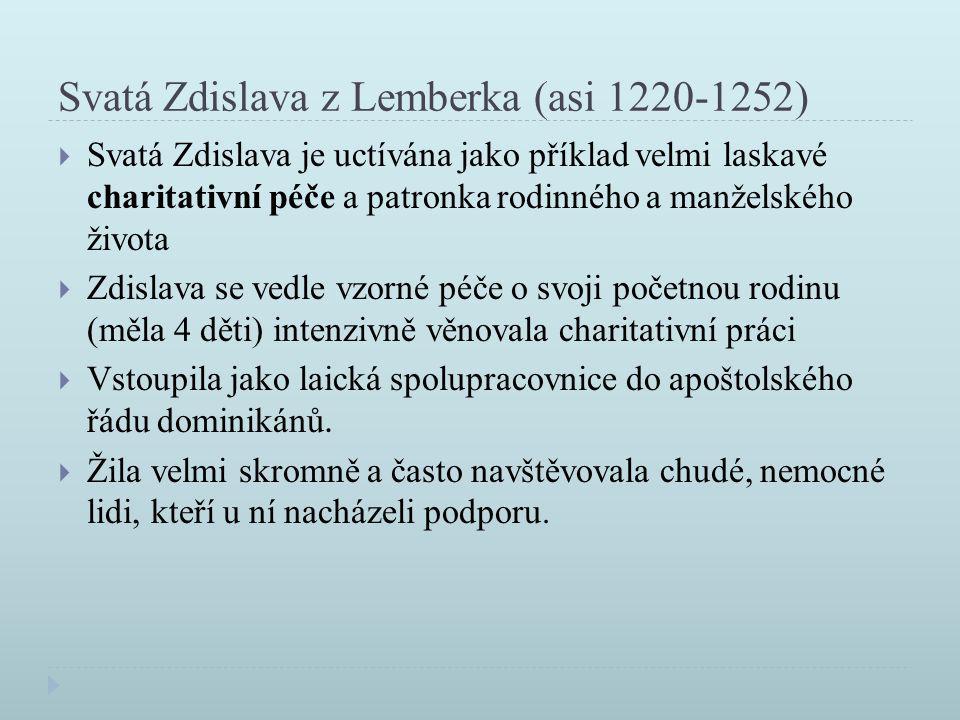 Svatá Zdislava z Lemberka (asi 1220-1252)