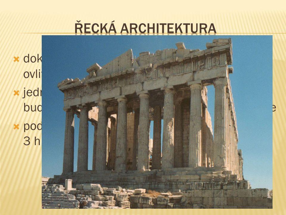 Řecká architektura dokonalé stavitelské uměním, které zásadně ovlivnilo další historický vývoj architektury.