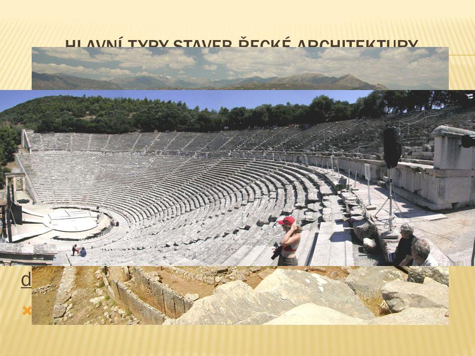 hlavní typy staveb řecké architektury