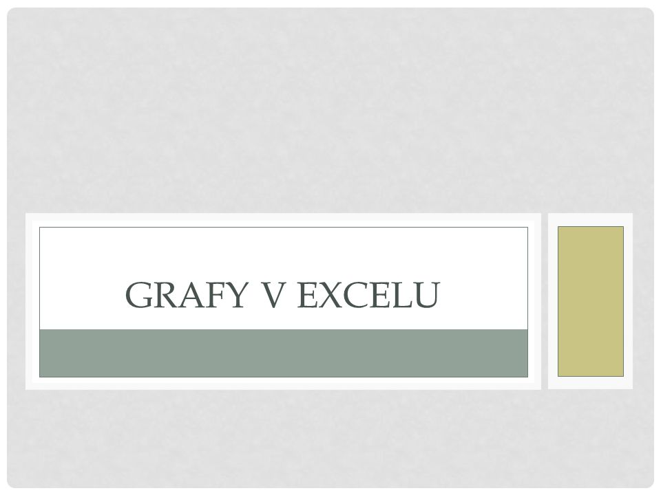 Grafy v Excelu