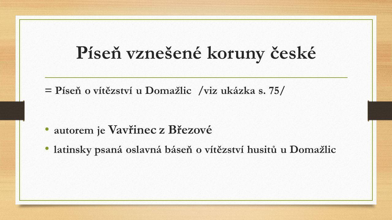 Píseň vznešené koruny české