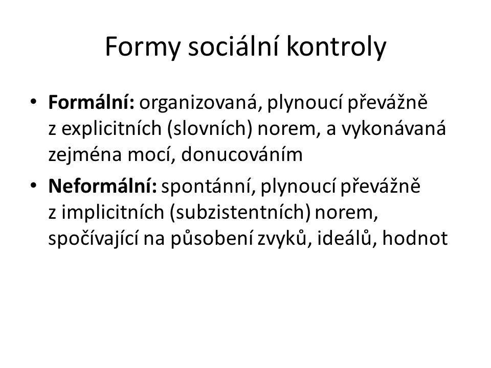 Formy sociální kontroly