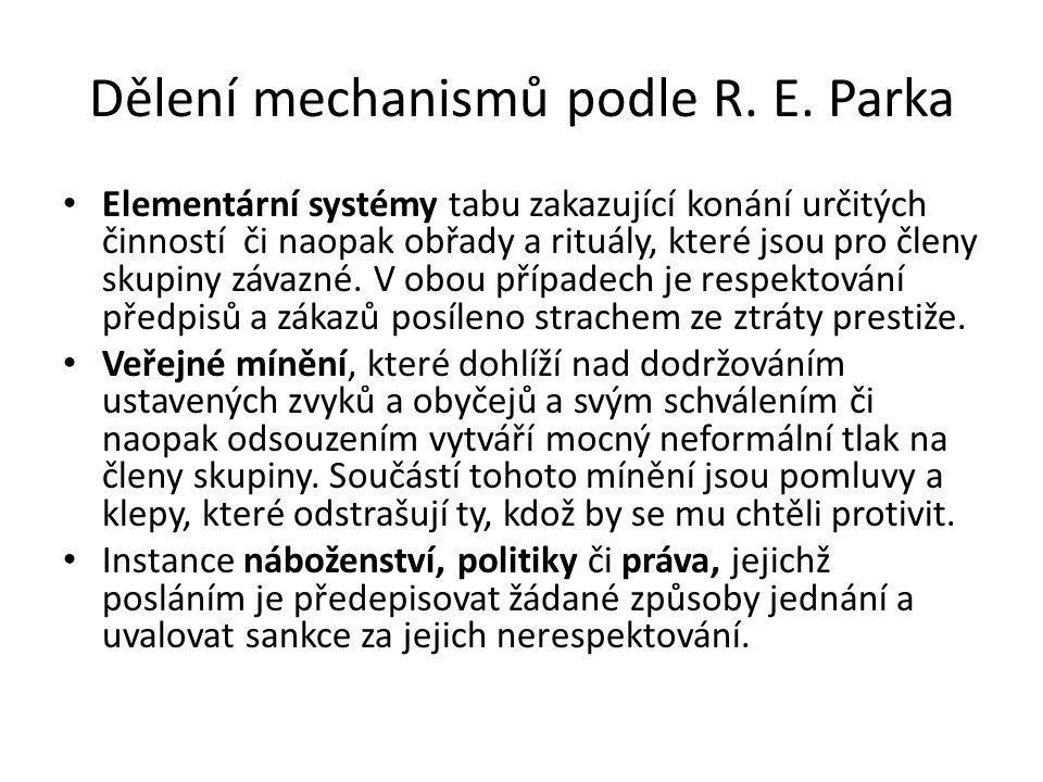 Dělení mechanismů podle R. E. Parka