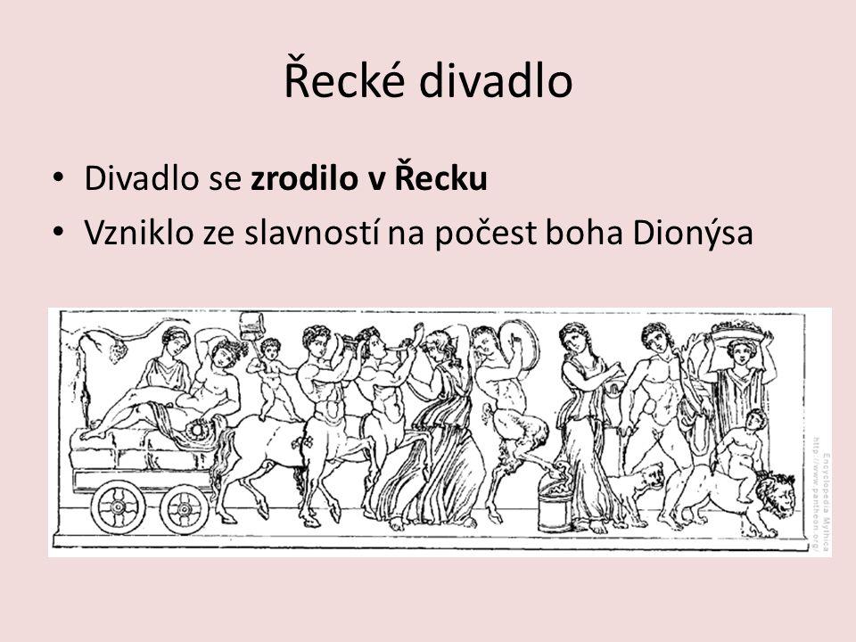 Řecké divadlo Divadlo se zrodilo v Řecku