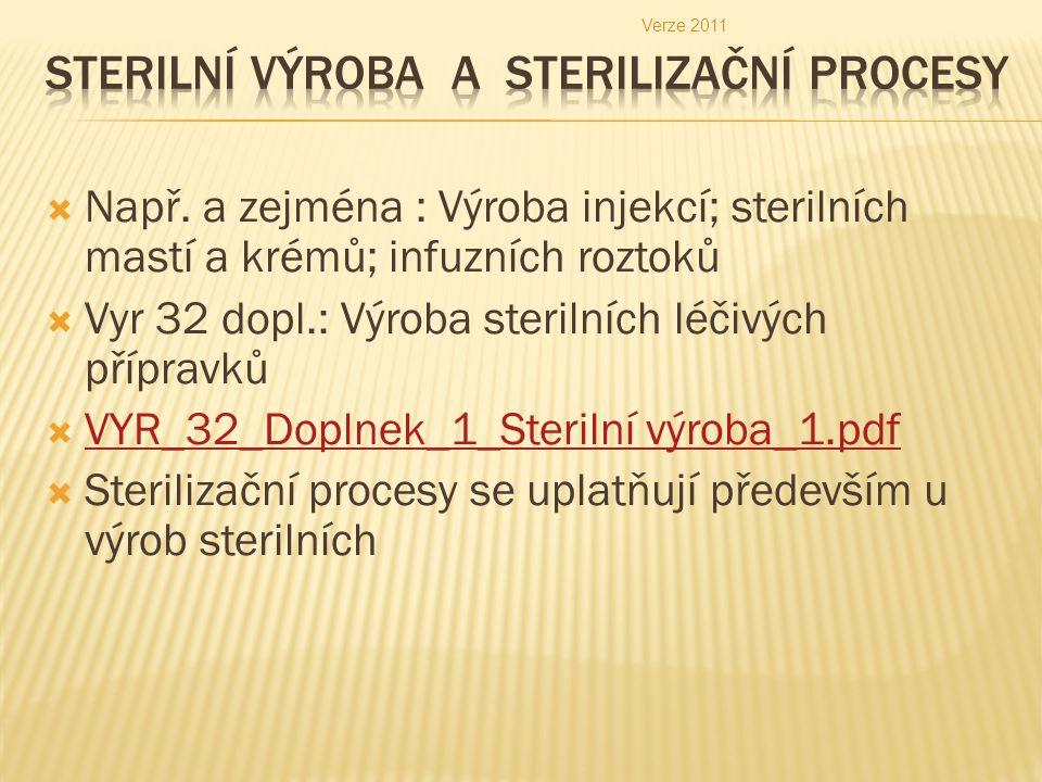 Sterilní výroba a sterilizační procesy