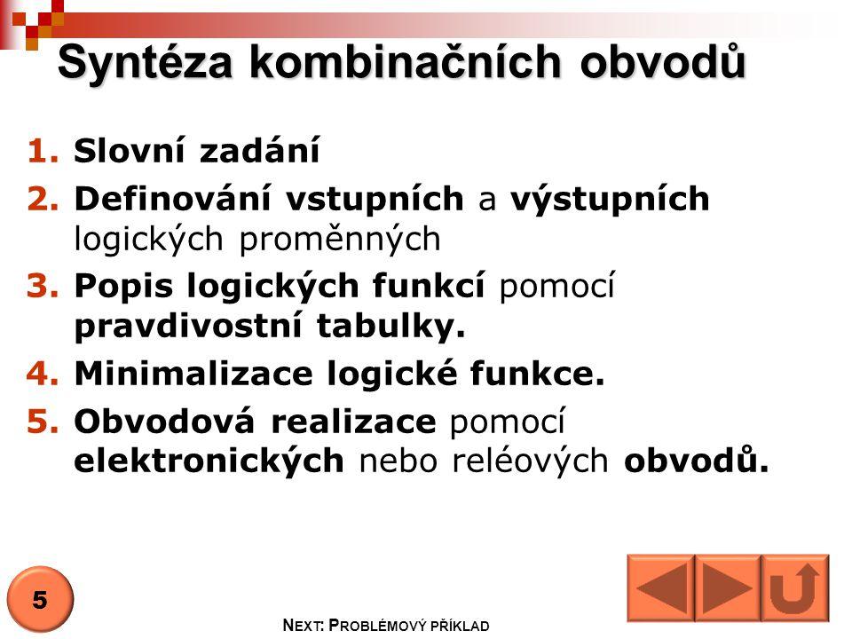 Syntéza kombinačních obvodů