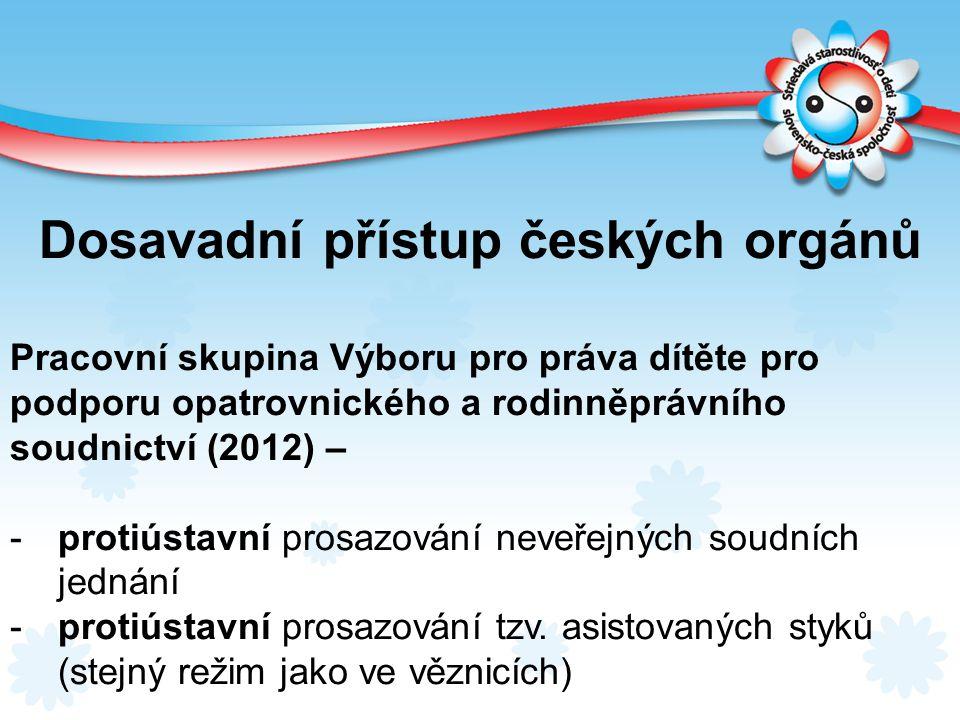 Dosavadní přístup českých orgánů