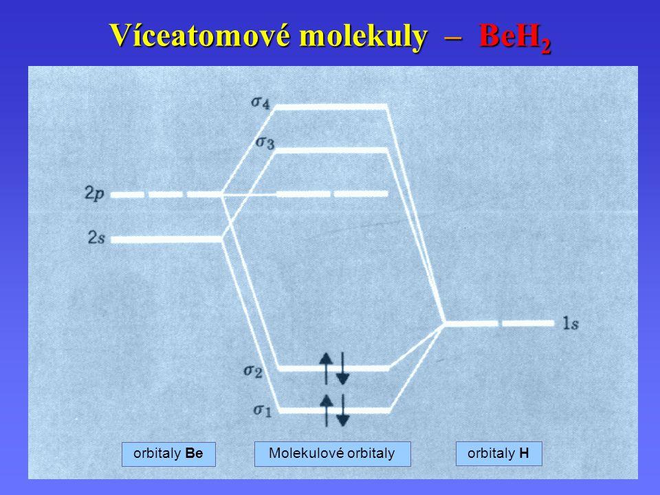 Víceatomové molekuly – BeH2