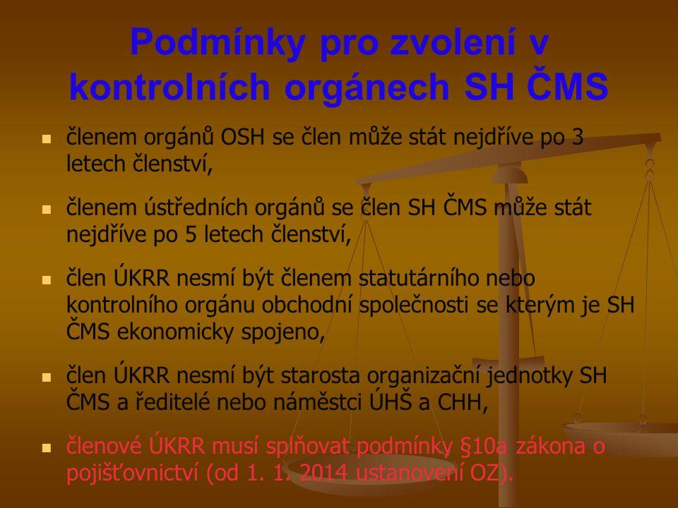 Podmínky pro zvolení v kontrolních orgánech SH ČMS