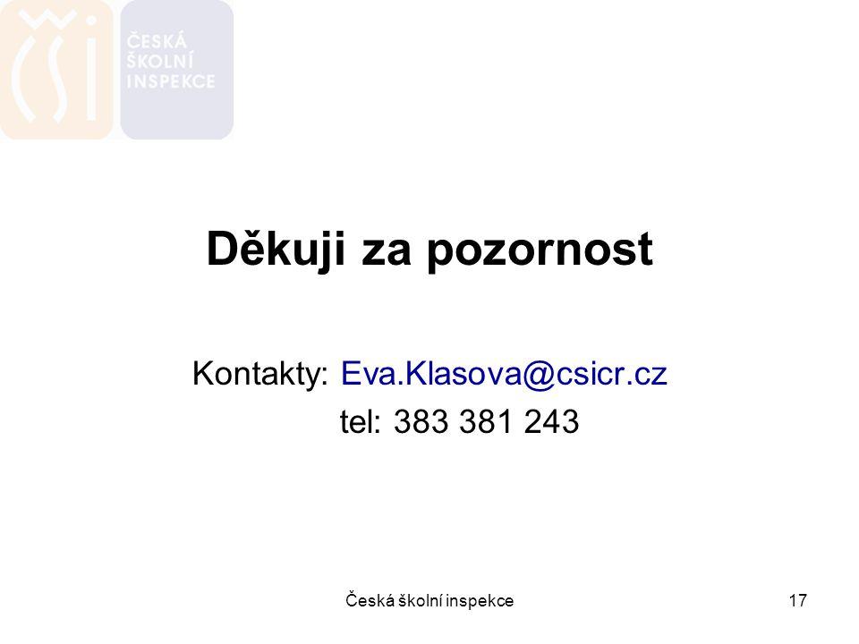 Kontakty: Eva.Klasova@csicr.cz
