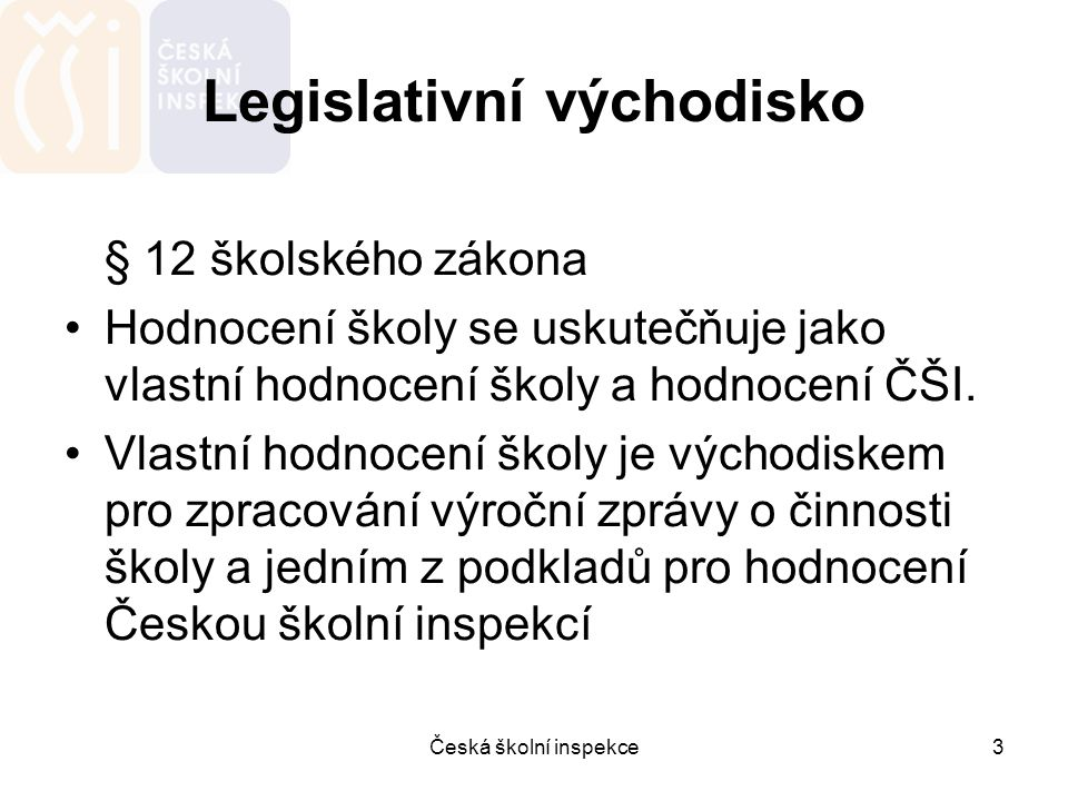 Legislativní východisko