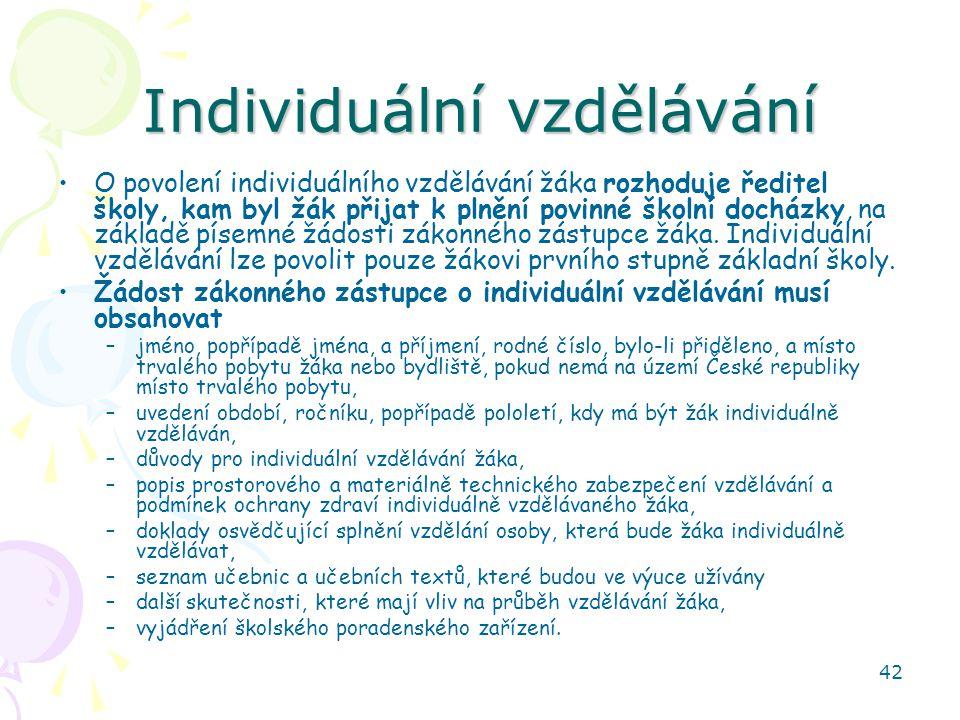 Individuální vzdělávání