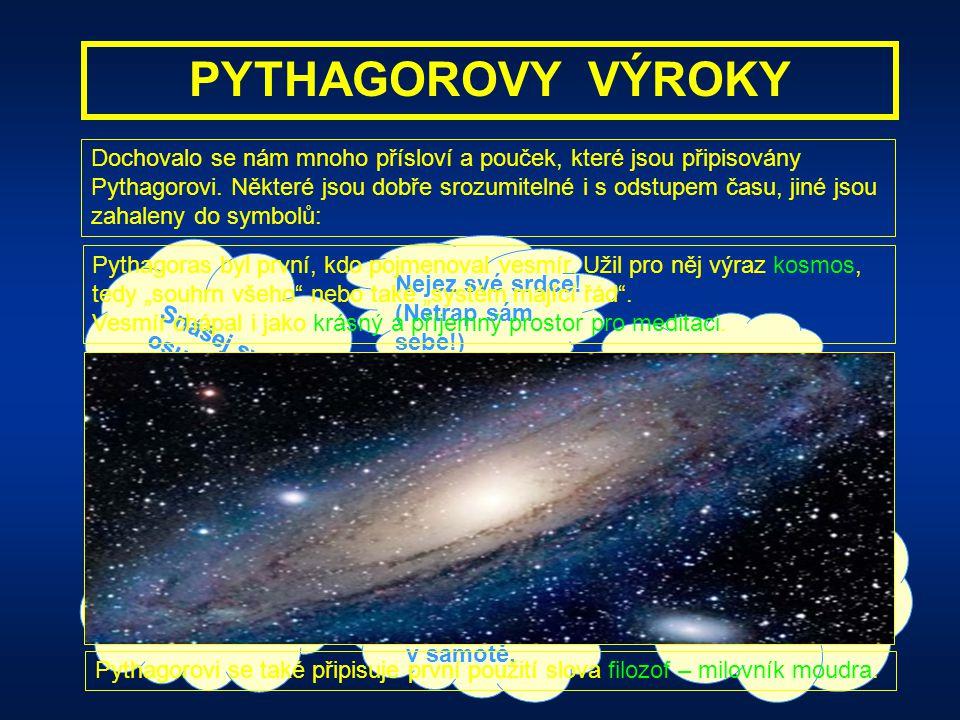 PYTHAGOROVY VÝROKY