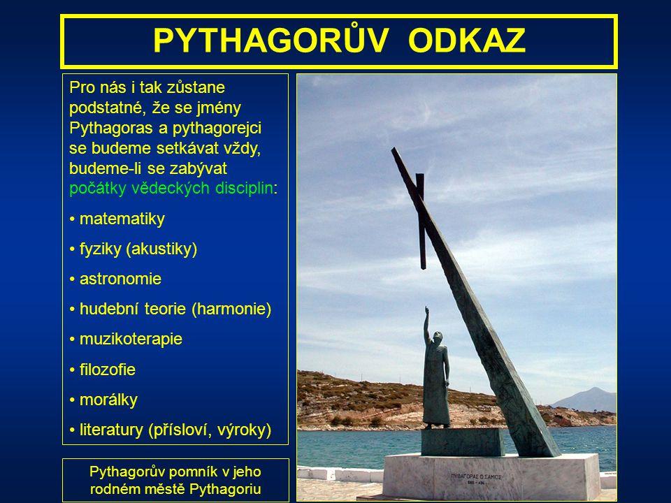 Pythagorův pomník v jeho rodném městě Pythagoriu