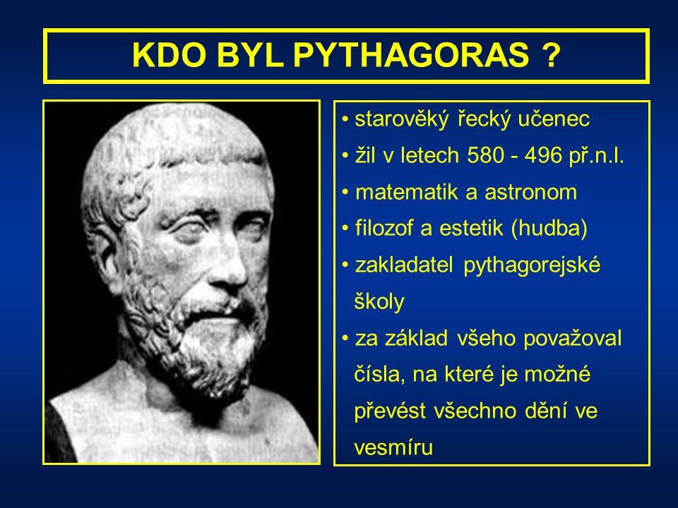 KDO BYL PYTHAGORAS starověký řecký učenec