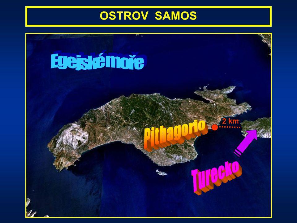 Egejské moře Pithagorio Turecko