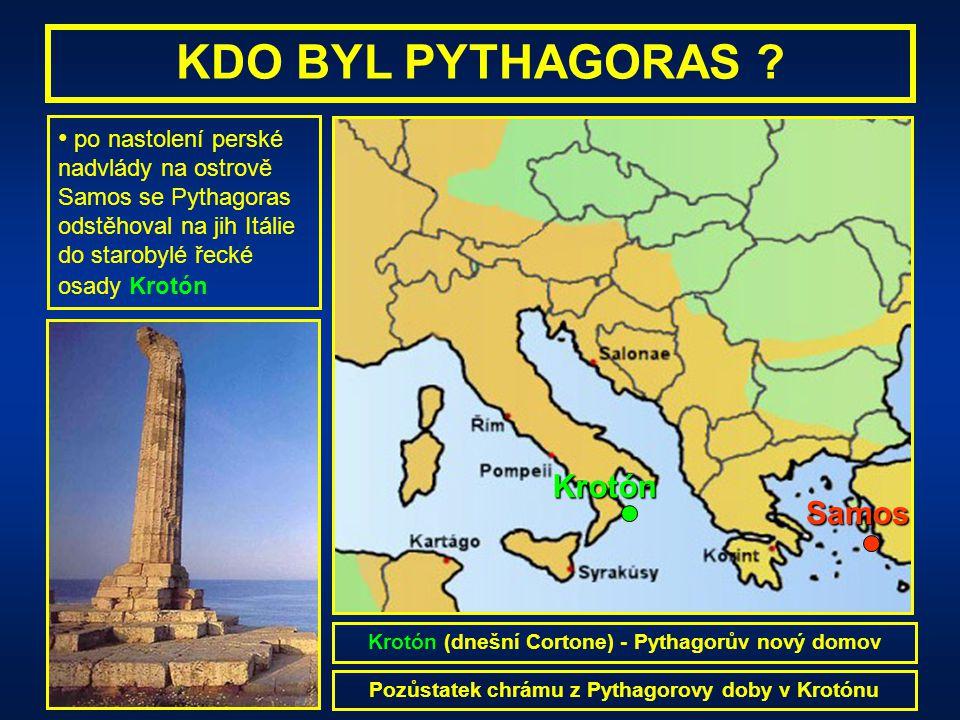 KDO BYL PYTHAGORAS Krotón Samos